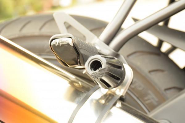 リアスライダー バイク マフラー サイレンサー部分 傷 立ちごけ