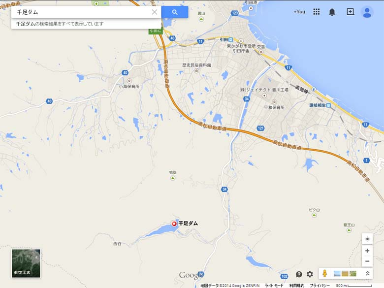 千足ダム地図