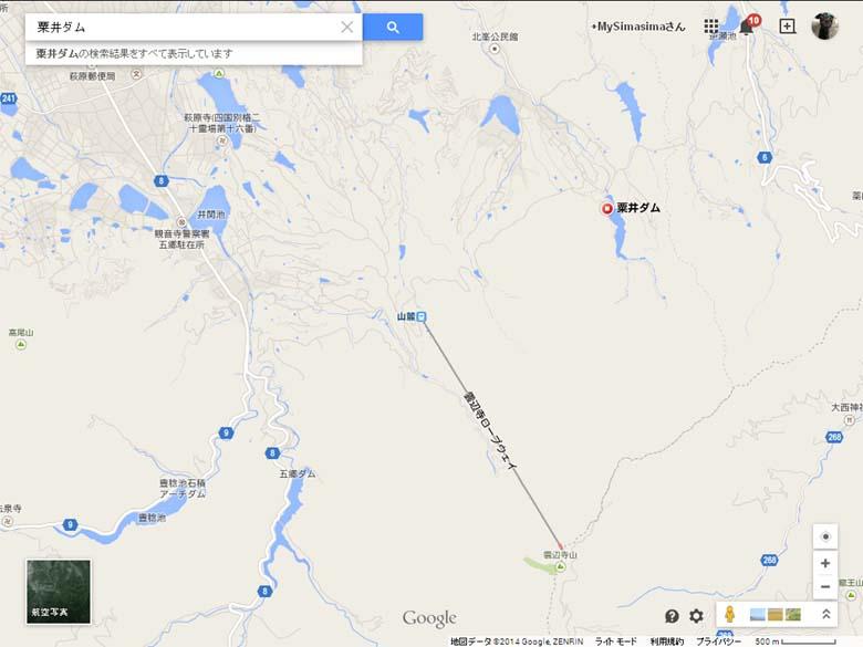 粟井ダム地図