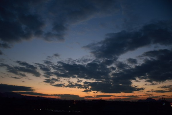 神秘的な夕焼け1