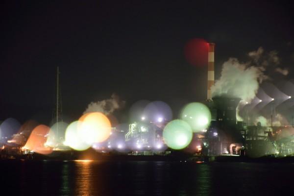 工場夜景ボヤケ2
