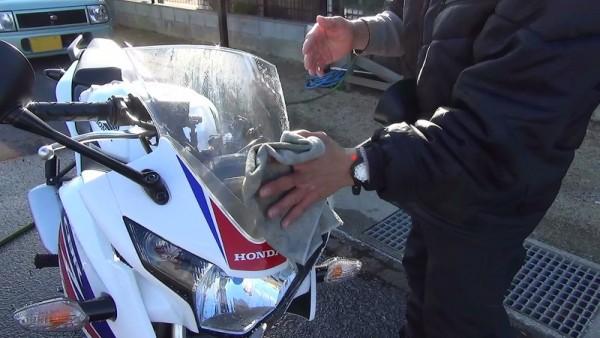 バイク洗車11