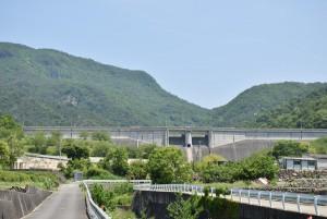 寒霞渓と粟地ダム