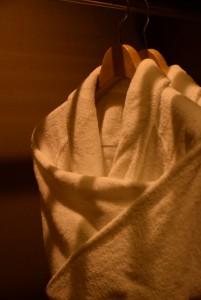 ホテルのバスローブ
