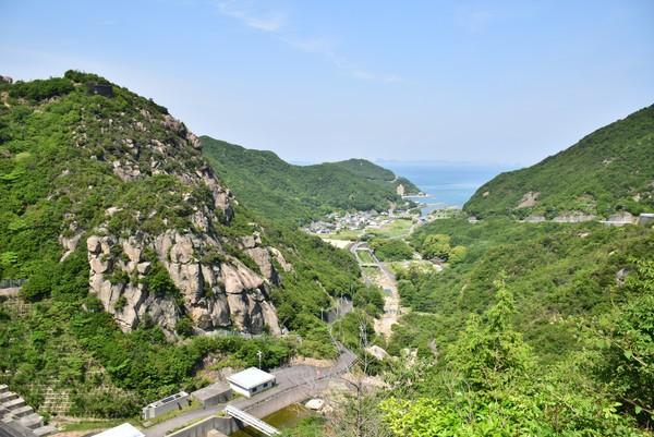 吉田ダムからの景色