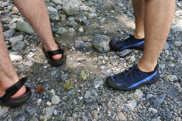 川遊び 靴