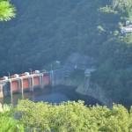 【ダムカード愛媛県】新宮ダム!赤いゲートが特徴的な秘境ダム!ツーリングが楽しい道を行く