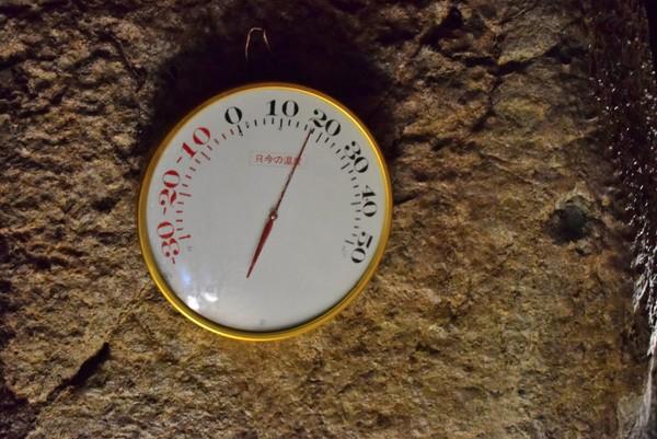 洞窟内の温度 龍河洞