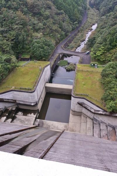 中筋川ダム 上から