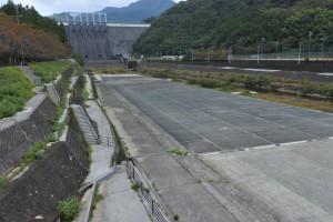 早明浦ダム ダム下