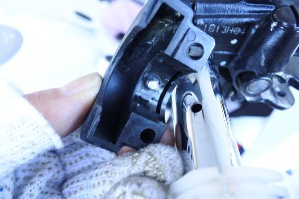CBR1125R バーハンドル 加工 穴あけ