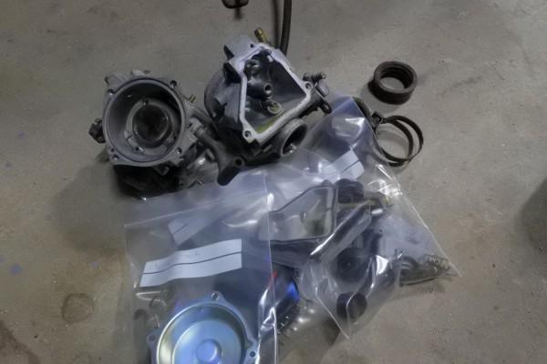 VTR250 キャブ洗浄 キャブ外し