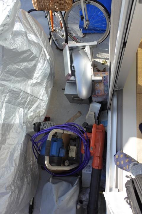 ガレージ 新築 荷物 倉庫 物置き バイク 青空整備 整備