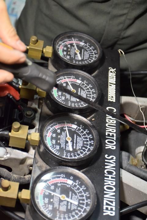 CBR400RR 同調 4気筒 キャブ 4連 負圧計 バキュームゲージ