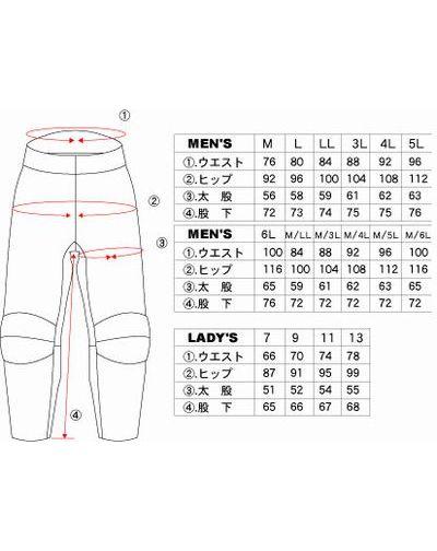 革パンツ サイズ ジムカーナ 体形