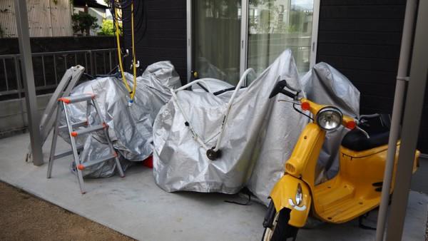 台風対策 バイク カバー