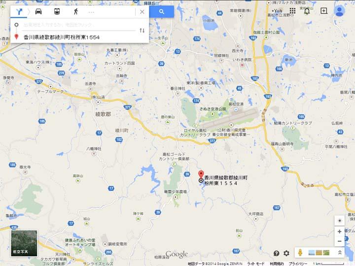 田万ダム地図2