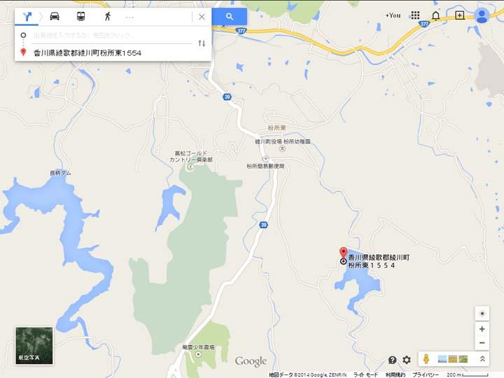 田万ダム地図
