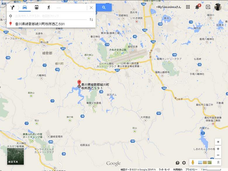 長柄ダム地図