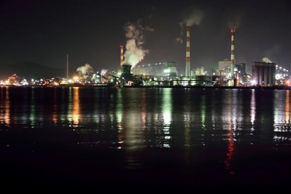 工場夜景海