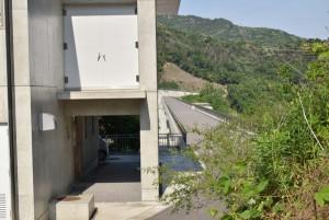 内海ダムの堤長と事務所