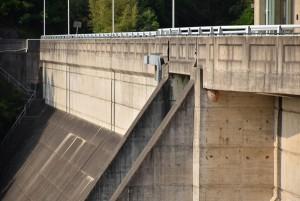 殿川ダム ダムの堤体