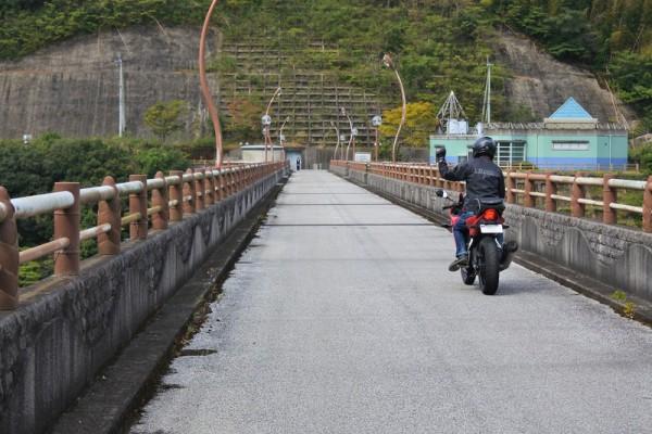 福井ダム堤頂