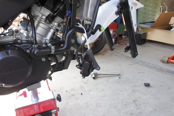 フロントフォーク ダストシール交換 CBR125R
