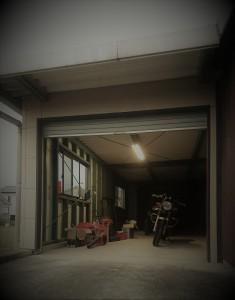 VTR250 ガレージ 倉庫 整備