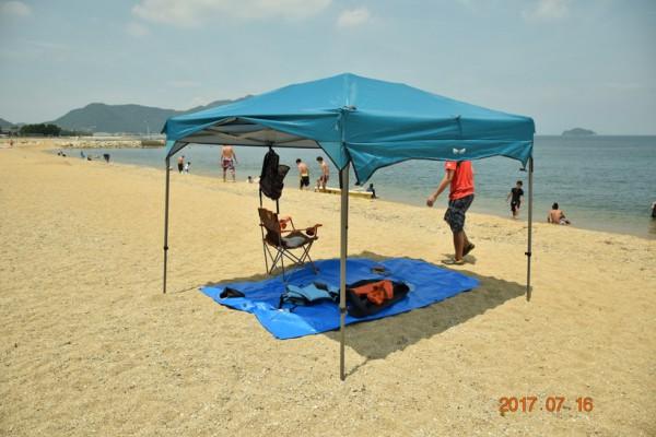 タープ キャンプ 海 日よけ