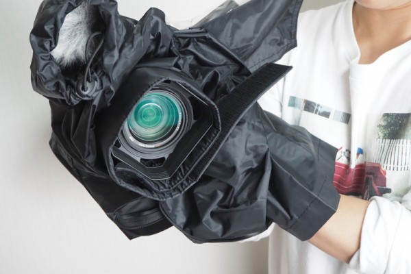 ビデオカメラ レインカバー 雨