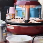 お家でキャンプ『焼肉はザイグルプラス』煙も油はねも無し、焦げ付かないホットプレート