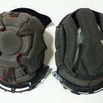 ヘルメット内装調整DIY「こめかみが痛い!」スポンジで対処